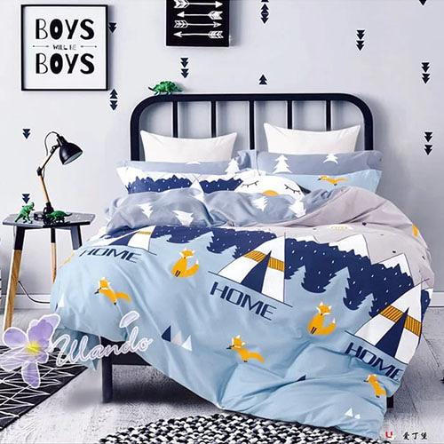 精梳棉四件式被套床包組 標準雙人-1組 (愛丁堡) 4947365001【KP01028】99愛買生活百貨