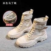 馬丁靴女鞋秋款新款秋冬英倫風網紅瘦瘦靴帥氣厚底百搭短靴子 韓國時尚週