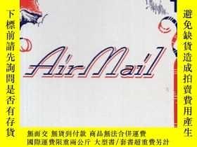二手書博民逛書店民國美術信箋封套:《AIR罕見MAIL》【僅存封面封底,裏面夾有手寫的中英文《曼