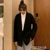 秋冬2019新款韓版中長款呢子大衣寬鬆百搭小個子學院風毛呢外套女 探索先鋒