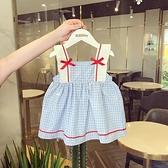小童洋裝2021夏季洋氣韓版裙子公主寶寶嬰兒女童夏裝背心洋裝12