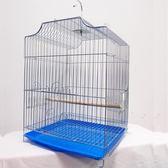鳥籠電鍍鋼絲虎皮鸚鵡八哥畫眉鷯哥相思大號【限時八折】