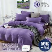 【Hilton 希爾頓】仙境系列頂級天絲單一被套/二色任選紫色