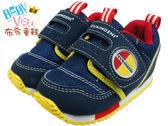 《布布童鞋》日本TSUKIHOSHI海藍黃機能寶寶鞋(12.5~14公分) [ IB8061B ] 藍色款