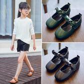 兒童女鞋方頭公主鞋新款兒童皮質鞋寶寶潮鞋子單鞋【店慶好康八折搶購】