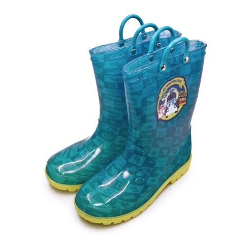 LIKA夢 POLI波力 16cm-21cm 兒童雨鞋 高筒雨靴 藍黃 91606 中童