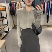 針織外套 早秋薄款針織上衣六羊毛顯瘦修身長袖上衣2020新款女時尚韓版開衫-米蘭街頭