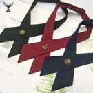 領帶領結 十字交叉領結女 紅黑 藍職業裝學生JK制服領帶領花韓版學院校服男 韓菲兒