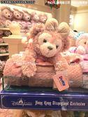 (現貨&樂園實拍)  香港迪士尼 香港限定版 雪莉玫 收納式 保暖 玩偶 毛毯