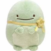 〔小禮堂〕角落生物 恐龍 沙包絨毛玩偶娃娃《S.黃緞帶》擺飾.玩具 4974413-75094