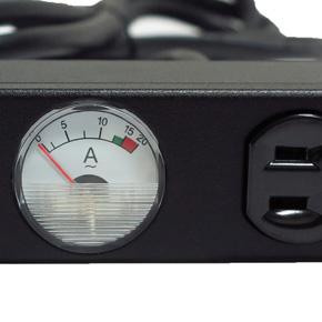 10孔20安培 指針電錶 機架型排插 (SPMA-2012-10)