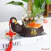 桌面花瓶擺件 創意綠蘿水培植物玻璃透明水養花瓶插花容器花盆器皿桌面裝飾擺件