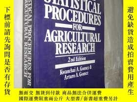 二手書博民逛書店Statistical罕見Procedures for Agri
