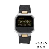 【官方旗艦店】NIXON RE-RUN 復刻方形電子錶 黑X銅釦 潮人裝備 潮人態度 禮物首選 (限量款)