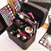 化妝包女便攜韓國大容量化妝品收納包簡約小方包多功能手提化妝箱 多莉絲旗艦店