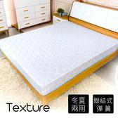 【時尚屋】蔓妮爾印花6尺加大雙人加強彈簧床墊Q1R7-01-6台灣製/免組裝/免運費