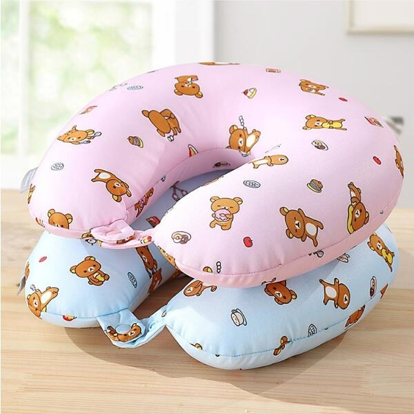 u型枕lovo home輕鬆小熊卡通U型枕護頸枕旅行枕午休  交換禮物