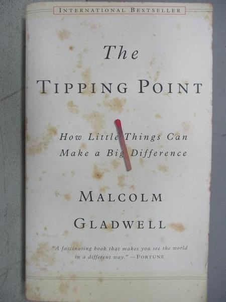 【書寶二手書T1/原文小說_MCN】The Tipping Point_Malcoim Gladwell