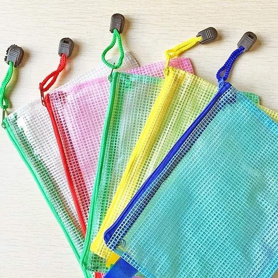 A4 A5 B5 A6文件袋 手提袋 防水袋 資料袋 資料夾 拉鍊袋 文具袋 學生 辦公 網格拉鍊袋【B030】慢思行
