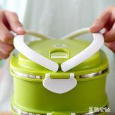 不銹鋼保溫飯盒帶手提學生飯盒便當盒分格單層多層餐盒 SH712『美鞋公社』