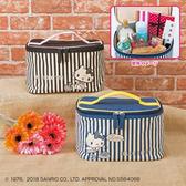 SANRIO 三麗鷗 凱蒂貓 KITTY手提化妝包 收納包 兩色隨機出貨 日本進口正版 1802010002