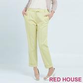 RED HOUSE-蕾赫斯-素色反折長褲(共兩色)