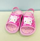 【震撼精品百貨】Hello Kitty 凱蒂貓~台灣製Hello kitty正版兒童拖鞋-桃大臉(13~18號)*18114