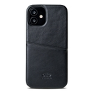 Alto iPhone 12 mini 真皮手機殼背蓋 5.4吋 Metro - 渡鴉黑【可加購客製雷雕】皮革保護套