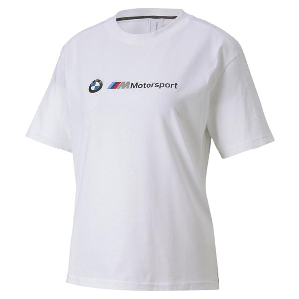 Puma BMW 白 女 短袖 T恤 聯名款 運動上衣 棉T 短袖 衛衣 運動 休閒 上衣 59636602