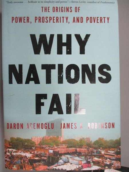 【書寶二手書T1/社會_YDF】Why Nations Fail: The Origins of Power…