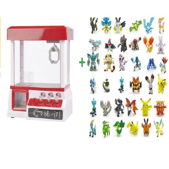 Pokemon 寶可夢 抓抓機 電池電動抓娃娃機夾娃娃 夾公仔 + 寶可夢精靈20個