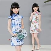 女童旗袍演出服公主裙中國風童裝 免運