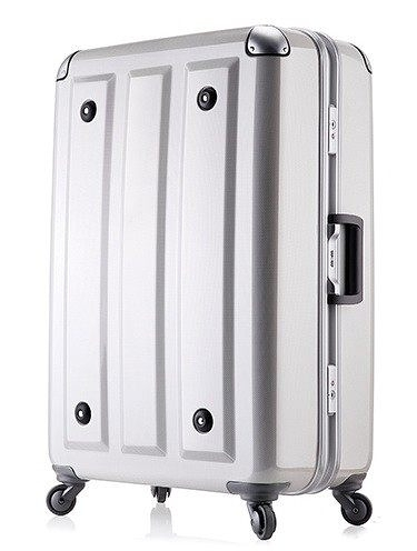 MOM JAPAN日本品牌 輕量化護角鋁框鏡面 旅行箱 -29吋-方格白