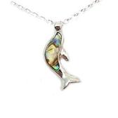 海豚飛躍鮑魚貝殼項鍊