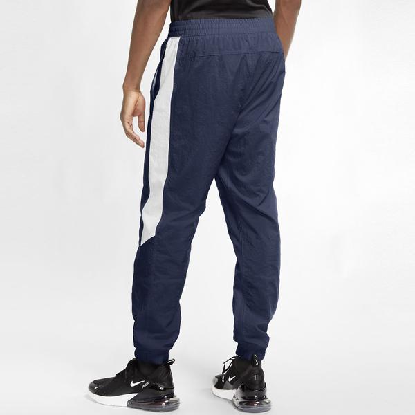 Nike Sportswear 男裝 長褲 慢跑 休閒 梭織 彈性褲腳 側口袋 藏青藍【運動世界】CU4314-410