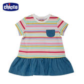chicco-To Be Baby-短袖洋裝-彩條