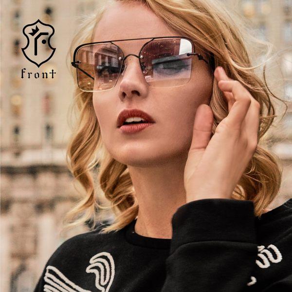 【Front 太陽眼鏡】Soulmate-四色可挑選(#雙槓方框款太陽眼鏡/墨鏡)