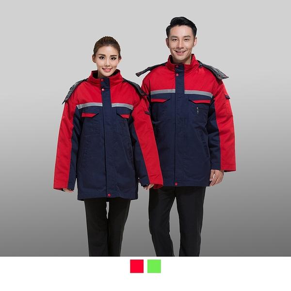 晶輝專業團體制服CH184*加厚多功能大衣冬装棉服可拆加厚超保暖連帽外套志工,廟宇外套