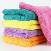 10條擦地板抹布擦家具擦桌灰清潔布超強吸水不掉毛珊瑚絨保潔毛巾   LannaS