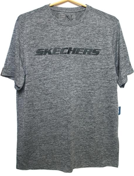 【卡漫城】 特價 SKECHERS 男生 灰 短上衣 M ㊣版 輕薄款 夏季 運動 T恤 圓領 吸溼排汗 衣服 短袖