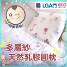 嬰兒乳膠圓枕 韓國進口多層紗  25x3...