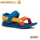 【MERRELL 美國 童 KAHUNA WEB 健行涼鞋《炫彩/深藍》】MLK264947/休閒涼鞋/兒童涼鞋