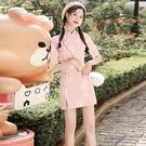 旗袍短款2021夏季短袖少女改良年輕款小個子復古文藝台灣風連衣裙 快速出貨