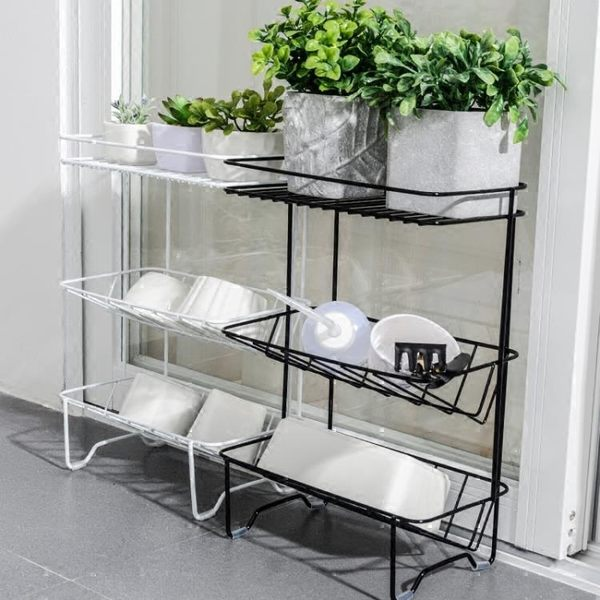 創意北歐廚房多層置物架浴室陽臺收納整理儲物落地架花架三層 igo 小時光生活館