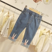 牛仔褲女寶寶牛仔褲2020新款春秋時尚女童洋氣百搭長褲小童外穿褲子 新品