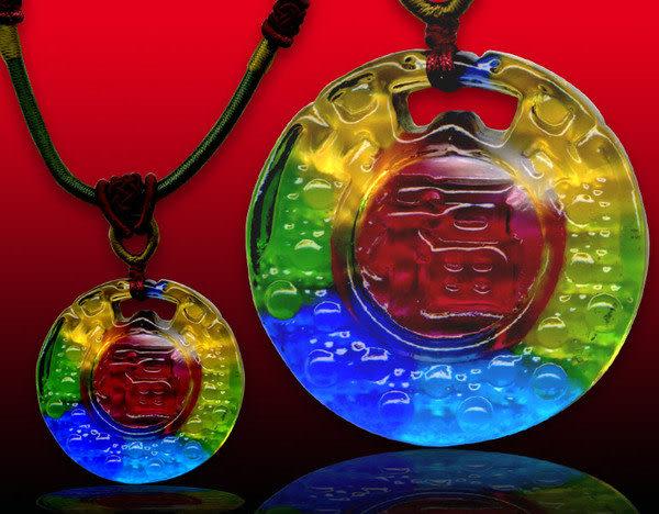 鹿港窯~居家開運水晶琉璃項鍊~福滿◆附精美包裝◆免運費送到家