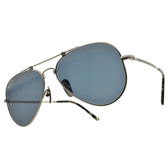 RayBan 偏光太陽眼鏡 RB8125M 9165 58mm (霧槍-藍偏光鏡片) 經典雙槓 飛行款 墨鏡 飛官 金屬框 # 金橘眼鏡