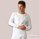 PLAY BOY 2件組台灣製100%時尚純棉毛圓領長袖衫