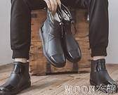 男士雨靴 特大碼短筒雨鞋男款防水防滑一體雨靴時尚水鞋男廚房工作鞋膠鞋 母親節特惠