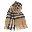 BURBERRY 經典格紋喀什米爾羊毛圍巾(典藏米)089540-9